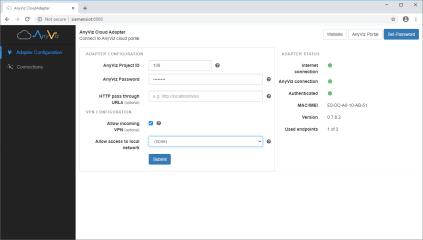 AnyViz Cloud Adapter screenshot