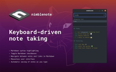 nimblenote screenshot