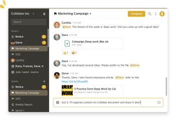 Collabee Messenger screenshot