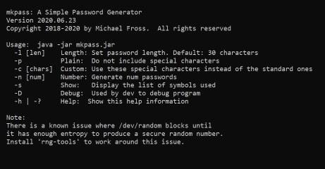 mkpass screenshot