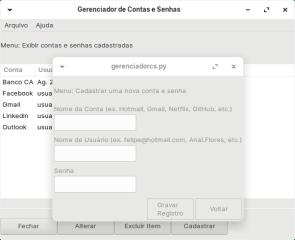 Gerenciador de Contas e Senhas screenshot