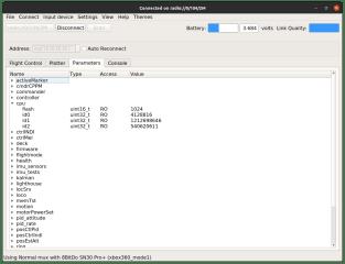 Crazyflie client screenshot