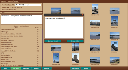 PhotoNoteBook™ screenshot