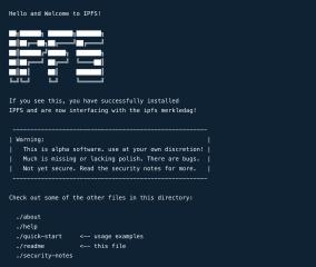 IPFS Daemon screenshot