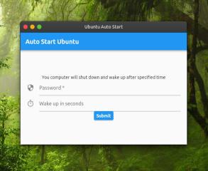 Auto Start Ubuntu screenshot