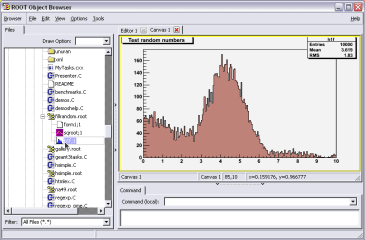 ROOT Framework screenshot