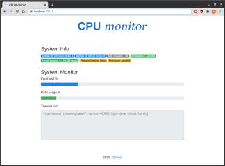 cpu-monitoring-webapp screenshot