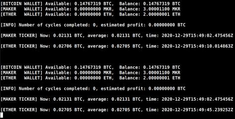 GDAX Trading Bot screenshot