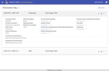 NavFit screenshot