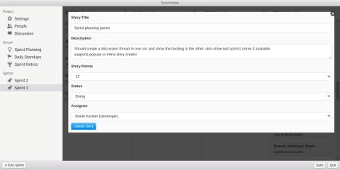 Scrumsheet screenshot