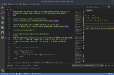 Coq Interactive Theorem Prover screenshot