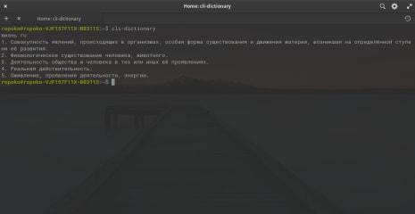 cli-dictionary screenshot