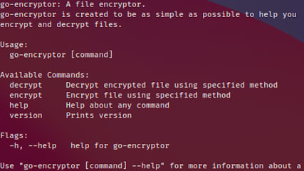 go-encryptor screenshot