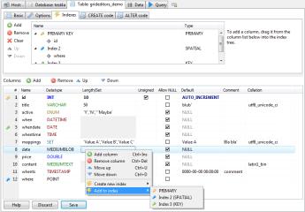 HeidiSQL (WINE) screenshot