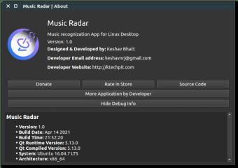 Music Radar - AudD Client screenshot