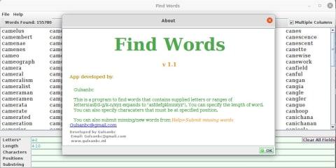 Find Words screenshot