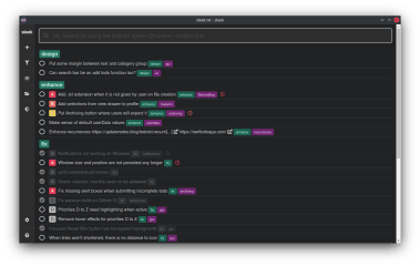 sleek - Todo.txt app for Linux screenshot