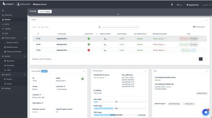Upswift - IoT device management platform screenshot