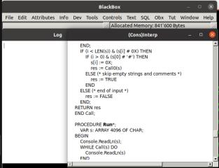 BlackBox Component Pascal Builder screenshot