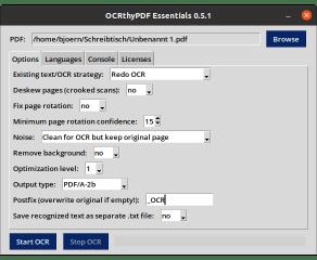 OCRthyPDF Essentials screenshot