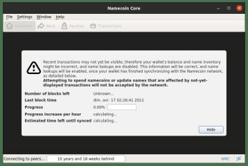 namecoin-core screenshot