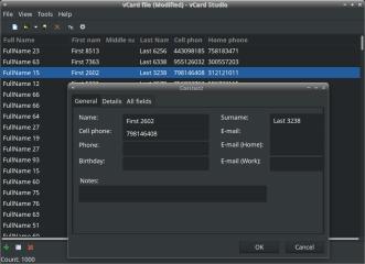 vCard Studio screenshot