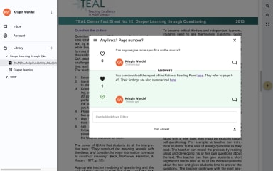 Bringing minds together through Q&A screenshot