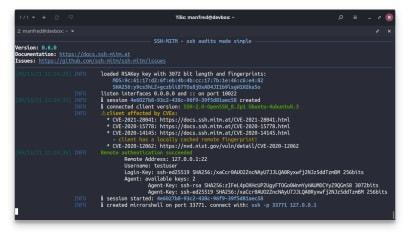 SSH-MITM screenshot