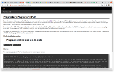 hplip-printer-app screenshot