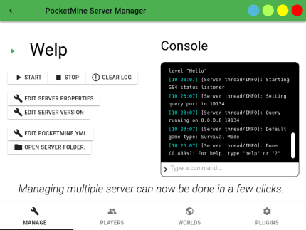 Install PocketMine Server Manager on Linux Mint using the