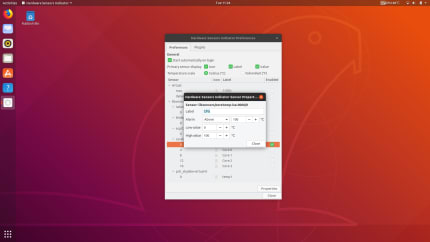 Install Hardware Sensors Indicator for Linux using the Snap
