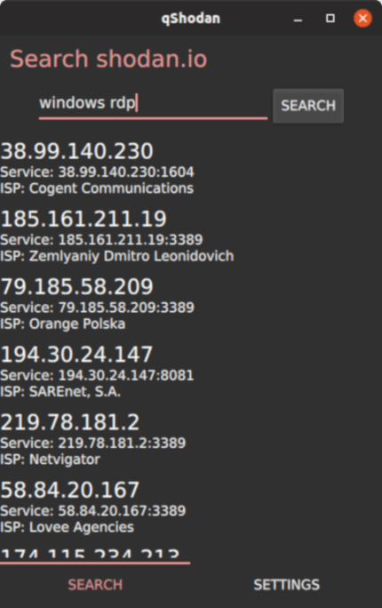 Install qShodan on CentOS using the Snap Store | Snapcraft