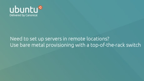 MAAS - bare metal provisioning with top-of-the-rack switch - remote location server set up