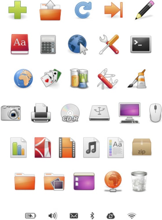 Previous desktop icons