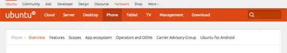 Multiple navigation levels in ubuntu.com