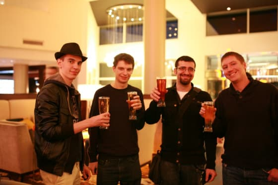 From left to right: Riccardo, Andrew, Filippo and Victor.