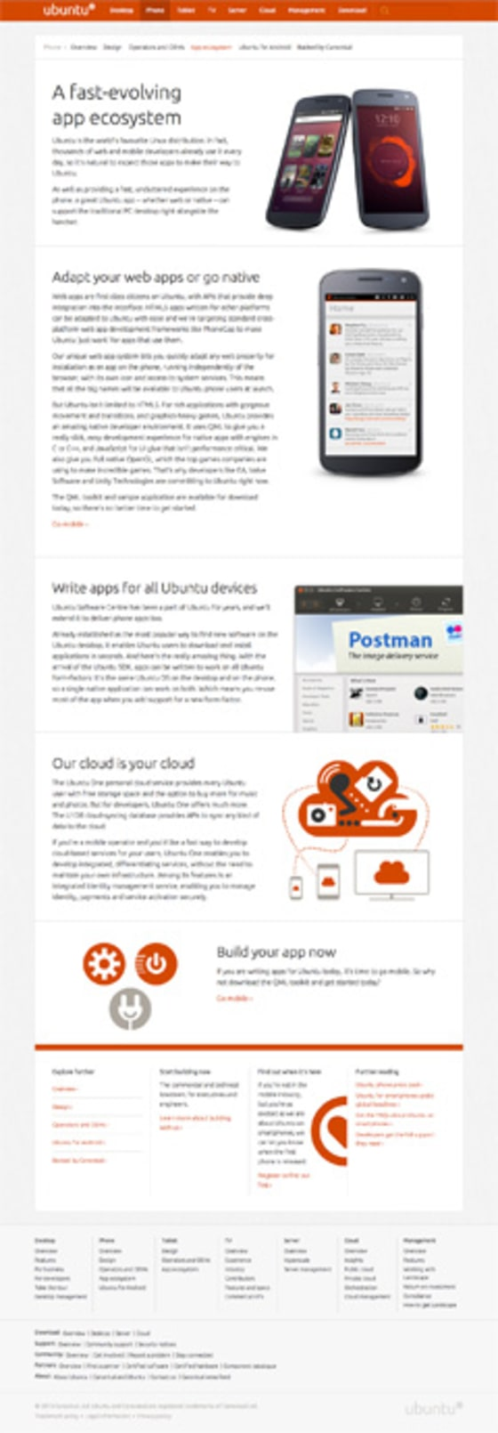 Ubuntu.com phone page