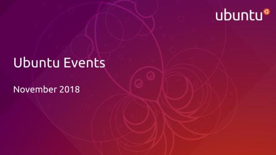 Ubuntu events November