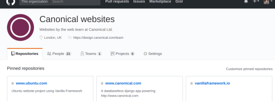 canonical-websites org