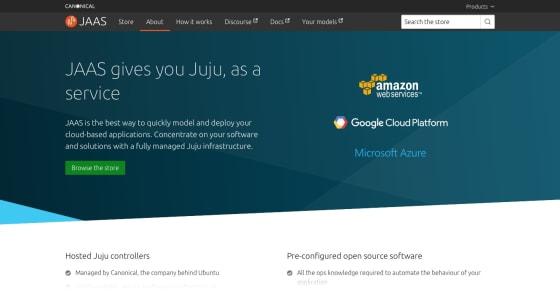 Top of the new JAAS homepage