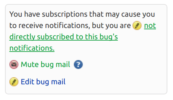 Subscribe Launchpad Bug