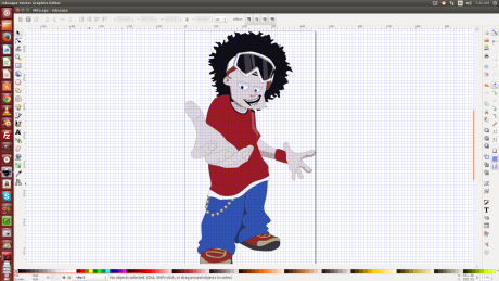 Screenshot of cartoon character