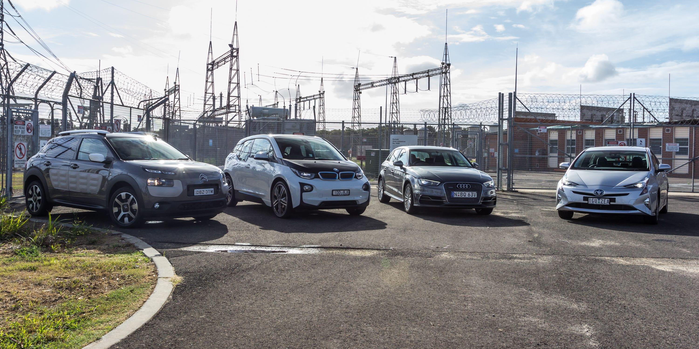 Eco Test Urban loop Audi A3 e tron v BMW i3 v Citroen C4 Cactus v Toyota Prius 56