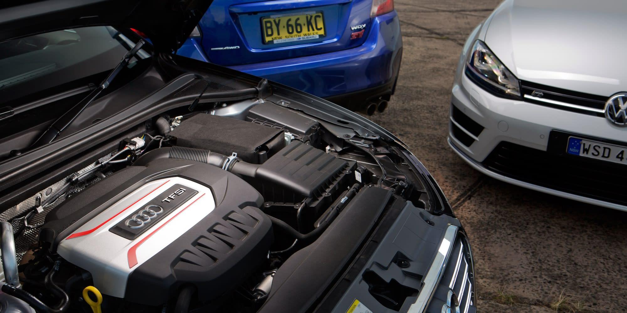 Subaru WRX STI Audi S3 Volkswagen Golf R 28