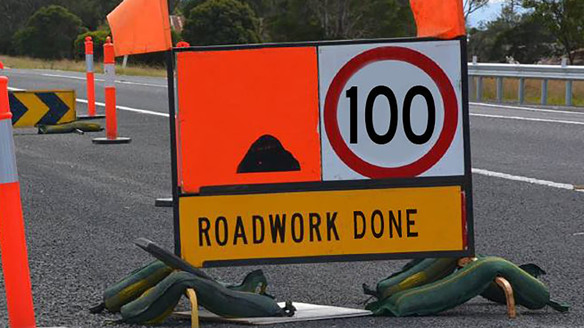 Victoria Speed Sign Roadworks