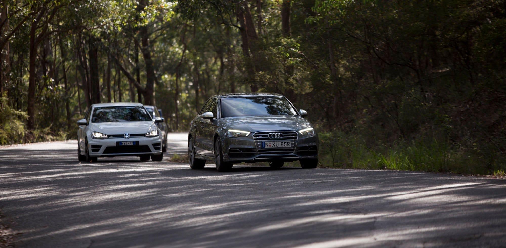 Subaru WRX STI Audi S3 Volkswagen Golf R 3