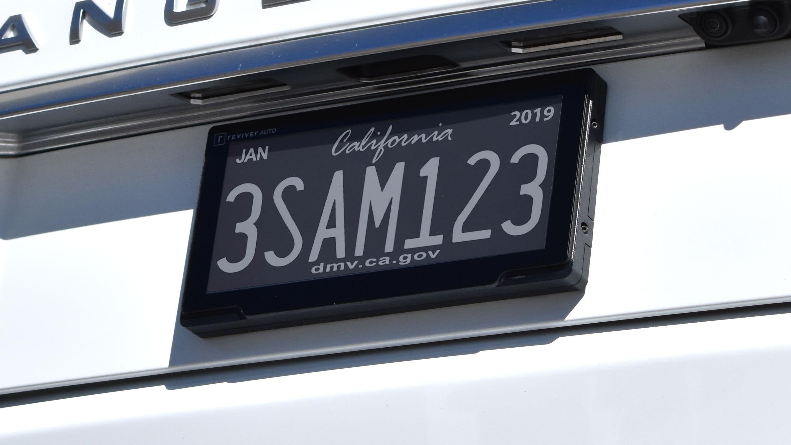california digital number plate reviver auto