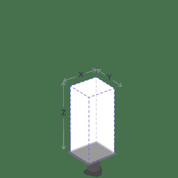 Visual representation of the printer build volumes