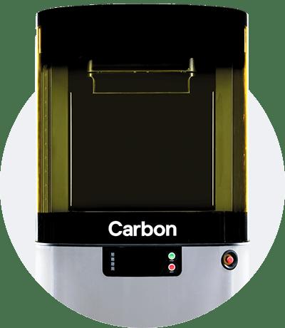 Photo of the build platform of the L1 Carbon 3D printer