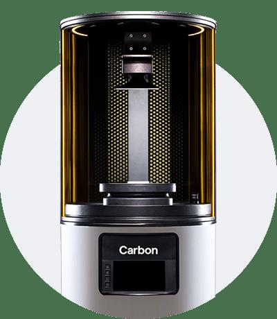 Photo of the build platform of the M1 Carbon 3D printer